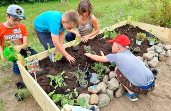 Gartenprojekt für Kinder gefördert von Tafel macht Kultur